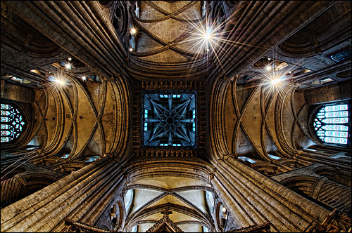 Crossing, Looking up Durham Cathedral Tower